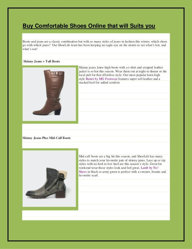 Buy comfortable shoes online that will