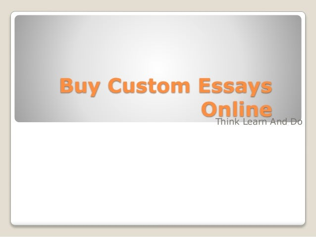 Buy a customized essay