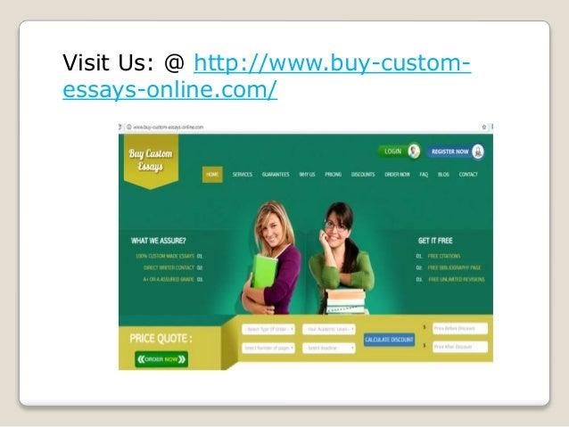 Buy custom essay