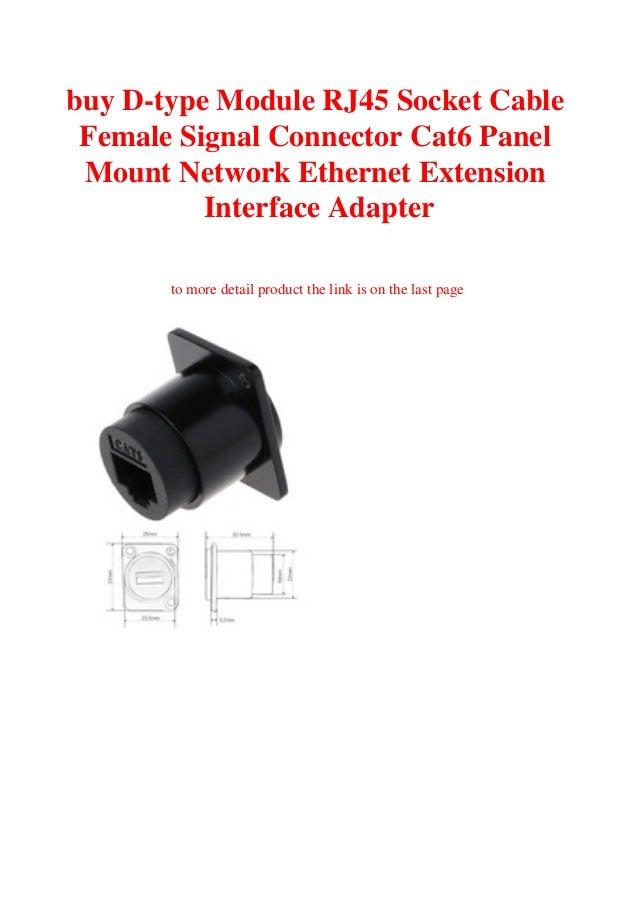 D-type RJ45 Module Socket Cable Female Signal Connector Cat6 Panel Mount Network
