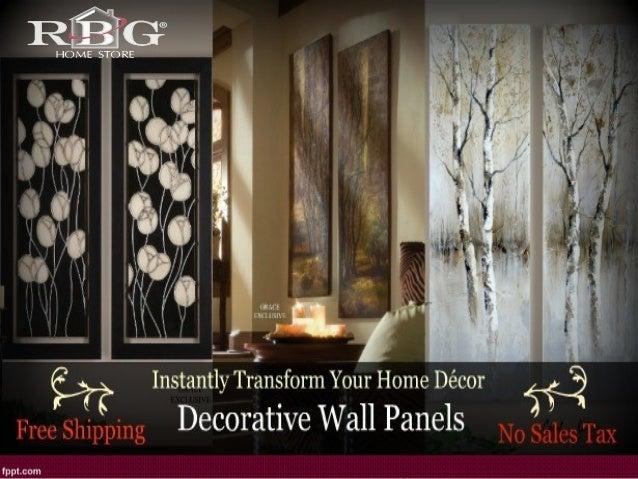 Framed Metal Leaf Wall Panels ( Set Of 2 ) ...