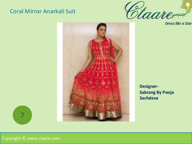 Buy designer anarkali suits