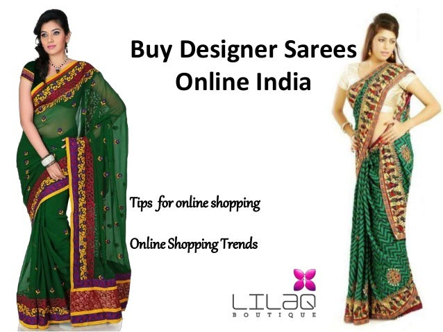 5e951cbc6a Buy Designer Sarees Online India Tips for online shopping Online Shopping  Trends ...