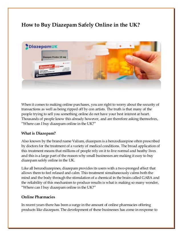 How to Buy Diazepam Safely Online in the UK? When it comes to making online purchases, you are right to worry about the se...