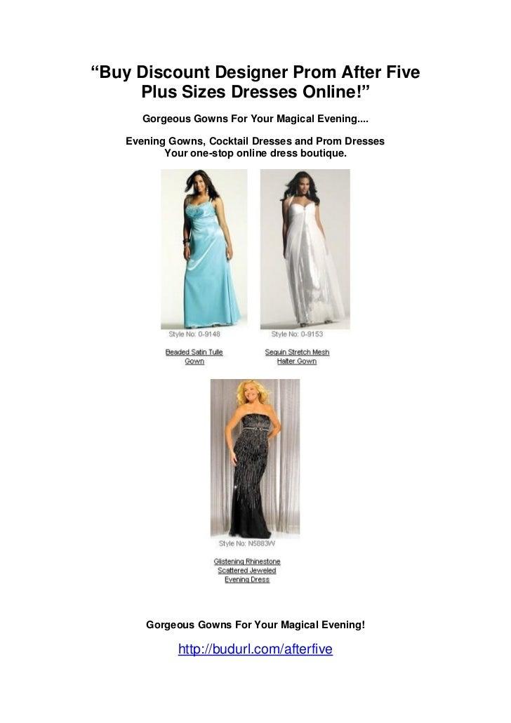 Buy Discount Designer Prom After Five Plus Sizes Dresses Online
