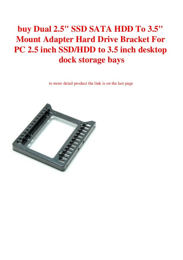"""Dual 2.5/"""" SSD SATA HDD To 3.5/"""" Inch Mounts Adapters Hard Drive Bracket For PC"""