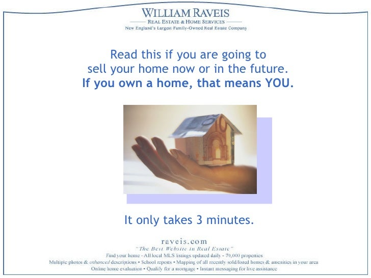 Read this if you are going to  sell your home now or in the future.  If you own a home, that means YOU.   It only takes 3 ...