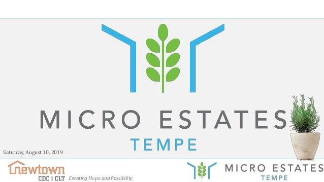 Tempe Micro Estates - Buyer Information Meeting - Held 08/10/19