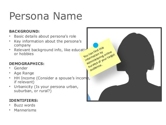 Persona NameBACKGROUND:• Basic details about persona's role• Key information about the persona'scompany• Relevant backgrou...