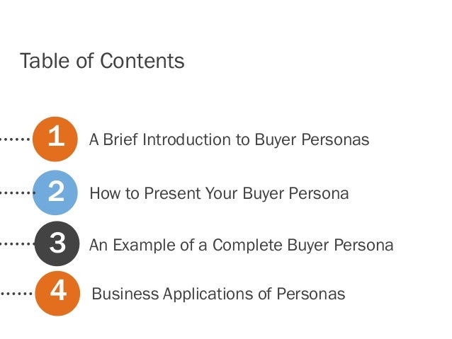 A Brief Introduction to Buyer PersonasHow to Present Your Buyer PersonaAn Example of a Complete Buyer Persona123Table of C...