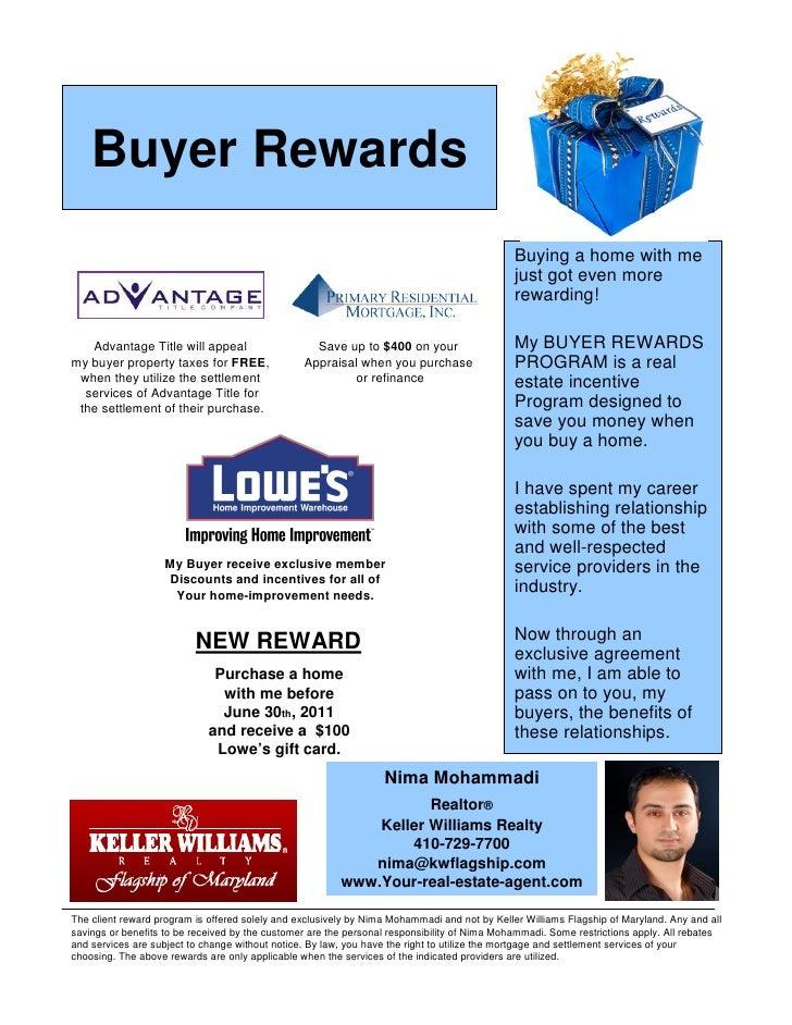 Buyer Rewards                                                                                              Buying a home w...