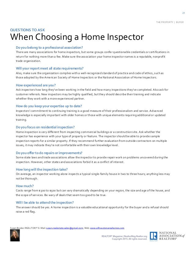 Questions To Ask During A Home Inspection buyers handbooklet pdf