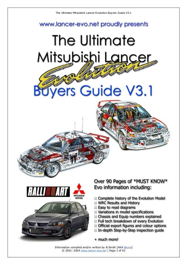 the ultimate mitsubishi lancer evolution buyer guide rh slideshare net mitsubishi lancer 2001 owners manual pdf 2001 mitsubishi lancer service manual