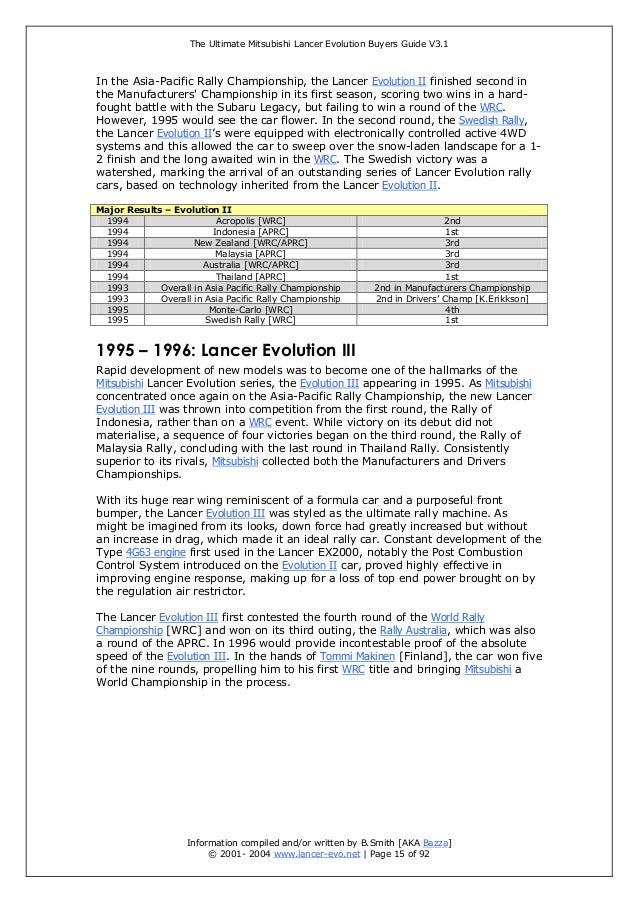 the ultimate mitsubishi lancer evolution buyer guide rh slideshare net 1999 Mitsubishi Lancer Mitsubishi Lancer 1990