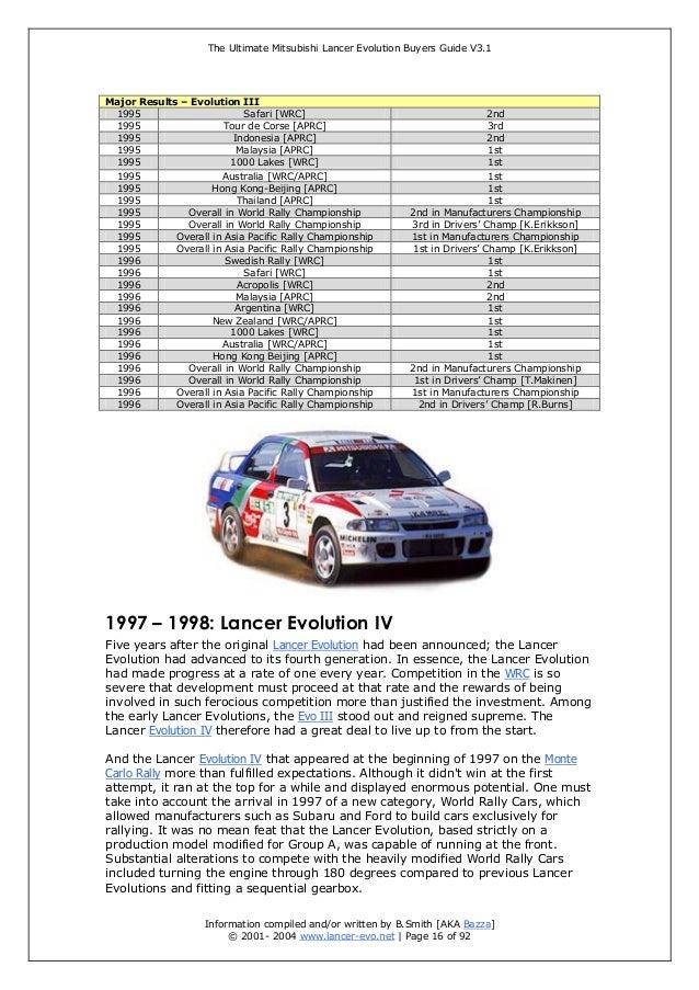 the ultimate mitsubishi lancer evolution buyer guide rh slideshare net 2004 Lancer MPG 2004 Mitsubishi Lancer Service Manual
