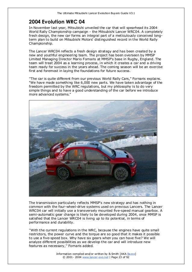 the ultimate mitsubishi lancer evolution buyer guide rh slideshare net Mitsubishi Lancer 1990 Mitsubishi Lancer 2000