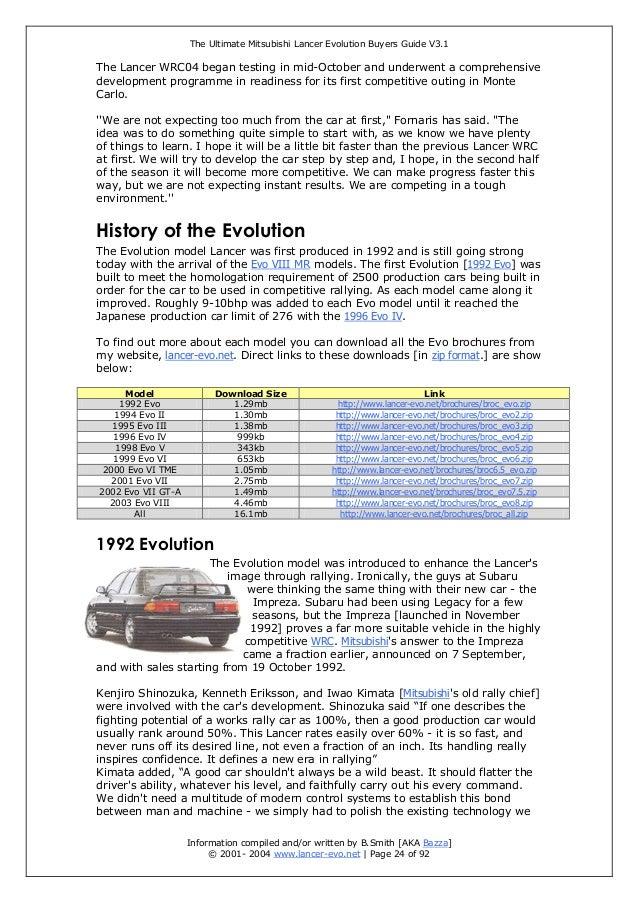 the ultimate mitsubishi lancer evolution buyer guide rh slideshare net 1999 Mitsubishi Lancer 2008 Mitsubishi Lancer
