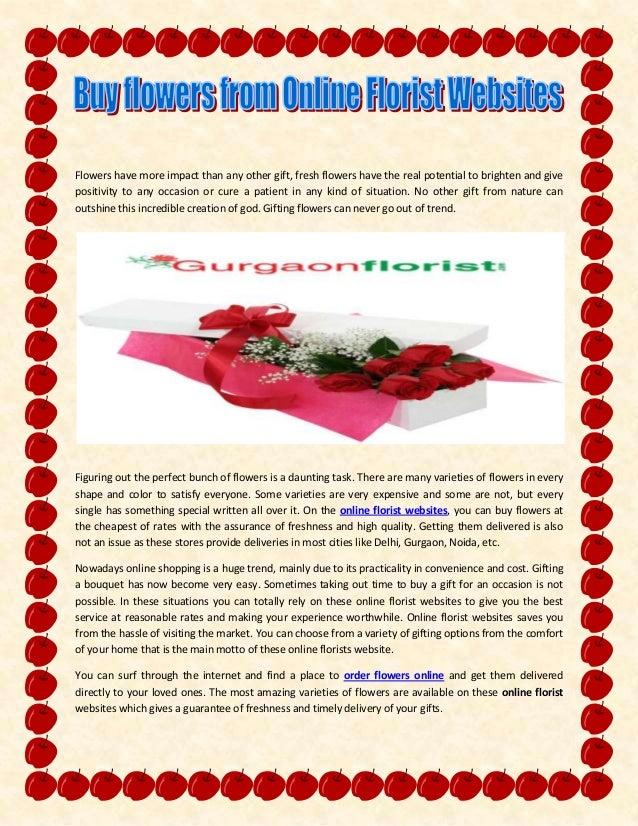 Buy Flowers From Online Florist Websites