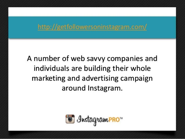 A number of web savvy companies andindividuals are building their wholemarketing and advertising campaignaround Instagram....