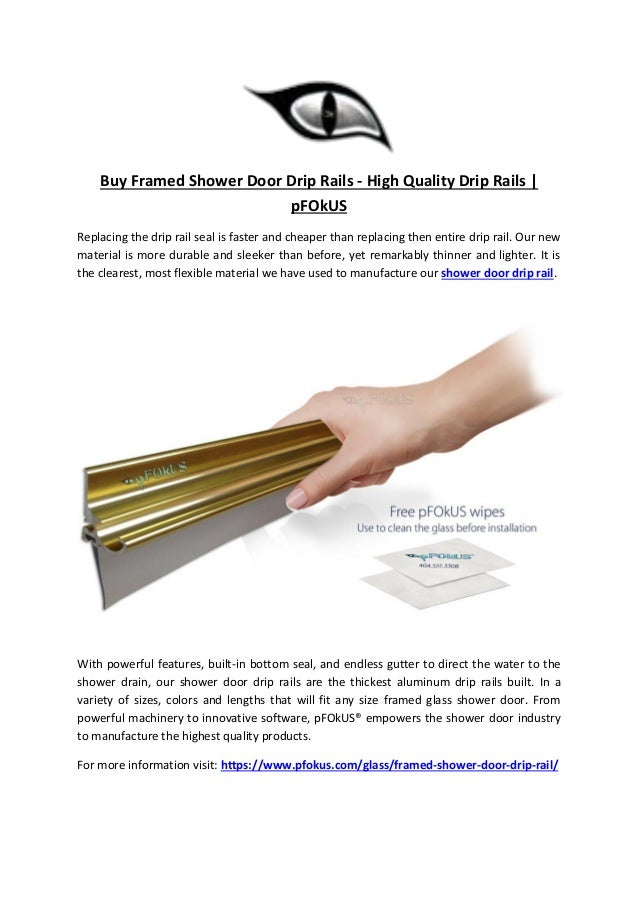 Buy framed shower door drip rails
