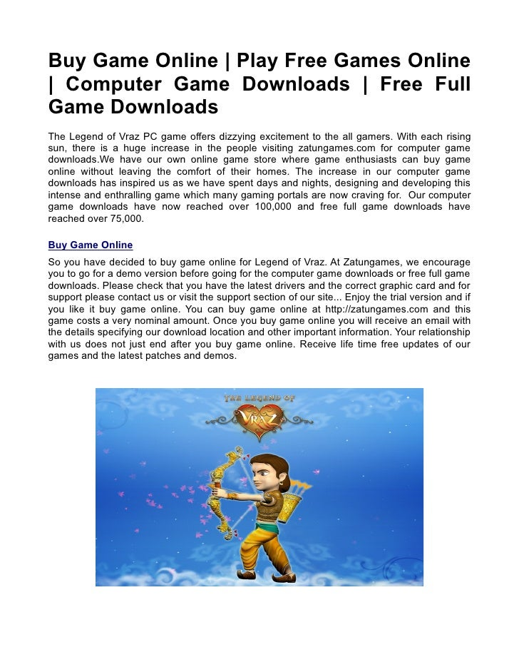 Buy Game Online | Play Free Games Online | Computer Game Downloads | Free Full Game Downloads The Legend of Vraz PC game o...