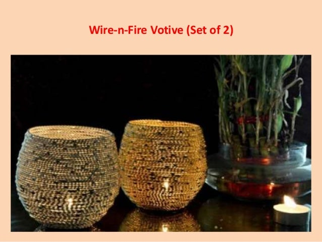 wire n fire votive set of 2 - Home Decor India