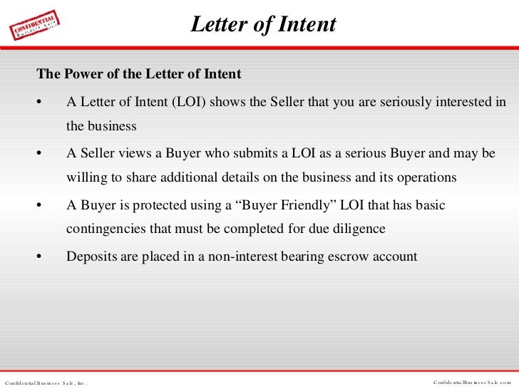 Letter Of Intent ...  Letter Of Intent To Sell Business Sample