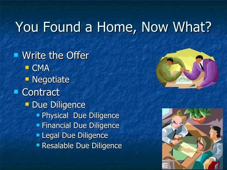 You Found a Home, Now What? <ul><li>Write the Offer </li></ul><ul><ul><li>CMA </li></ul></ul><ul><ul><li>Negotiate </li></...