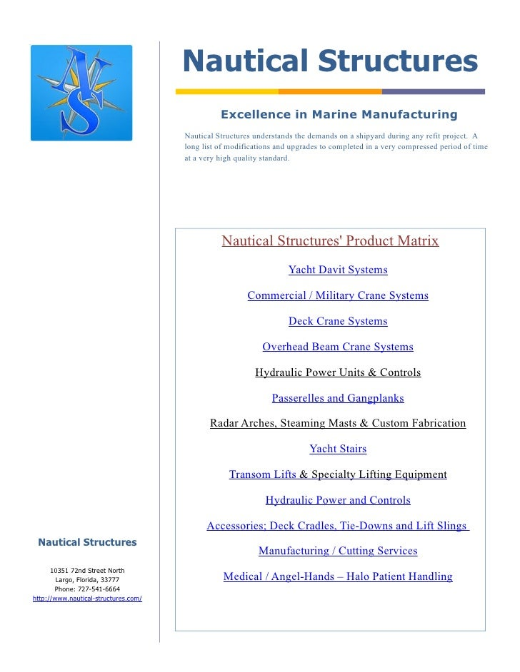 Nautical Structures                                                 Excellence in Marine Manufacturing                    ...