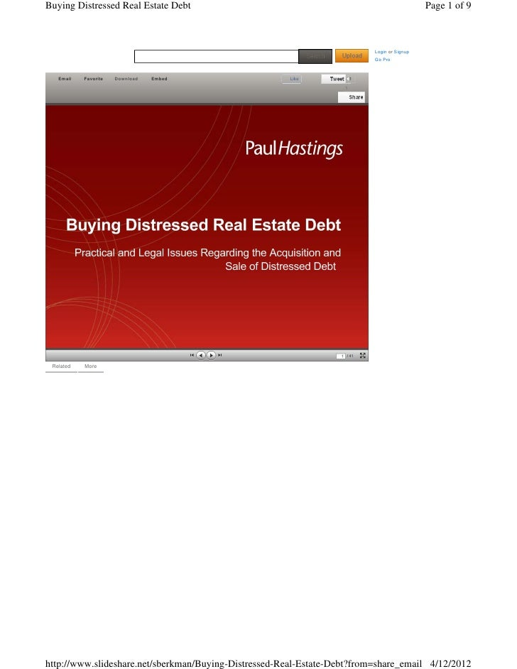 Buying Distressed Real Estate Debt                                                           Page 1 of 9                  ...