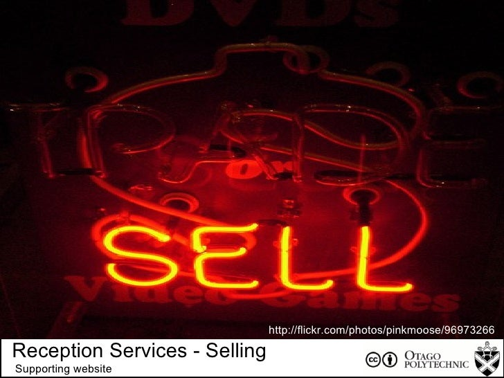 + Reception Services - Selling Supporting website http://flickr.com/photos/pinkmoose/96973266 /