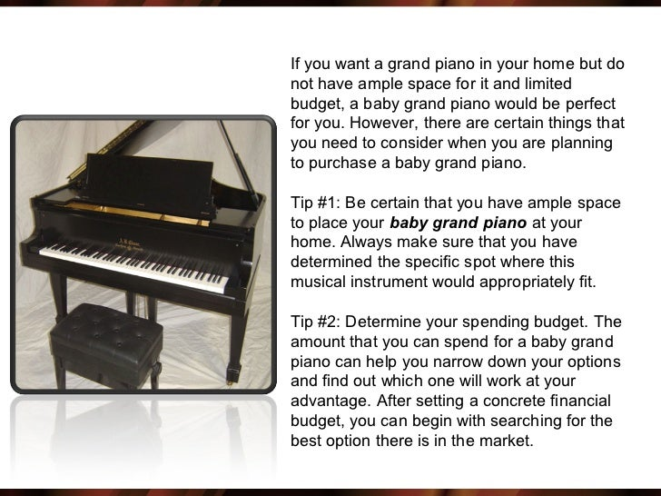 size baby grand piano