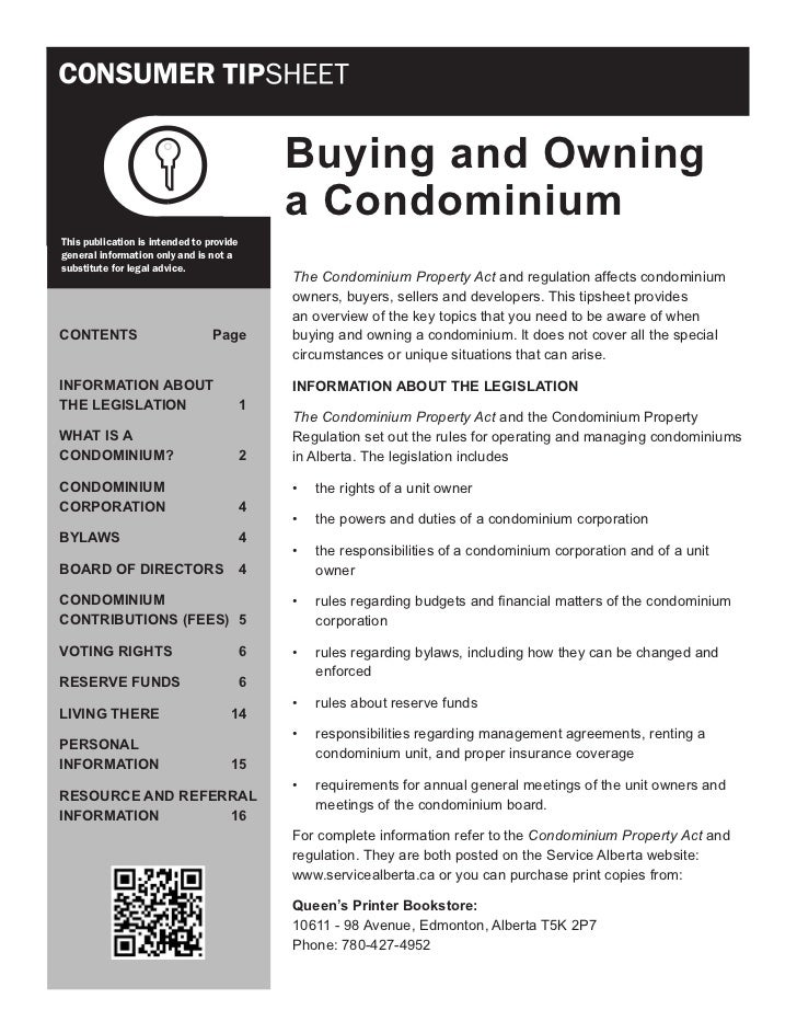 Buying and Owning                                              a CondominiumThis publication is intended to providegeneral...