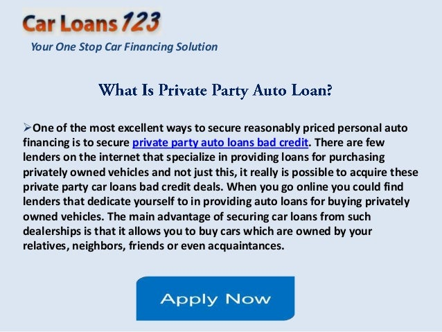 Best Used Car Loans Private Party