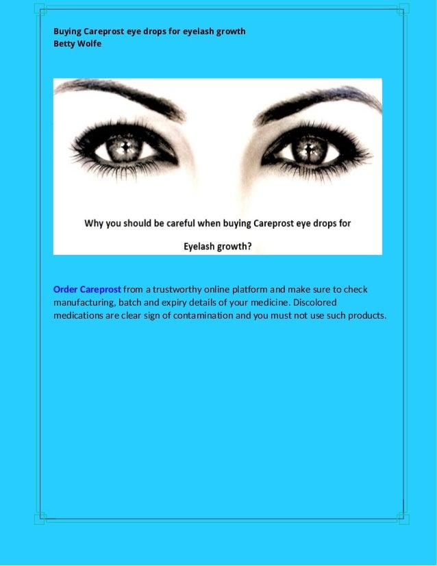 Buying Careprost Eye Drops For Eyelash Growth