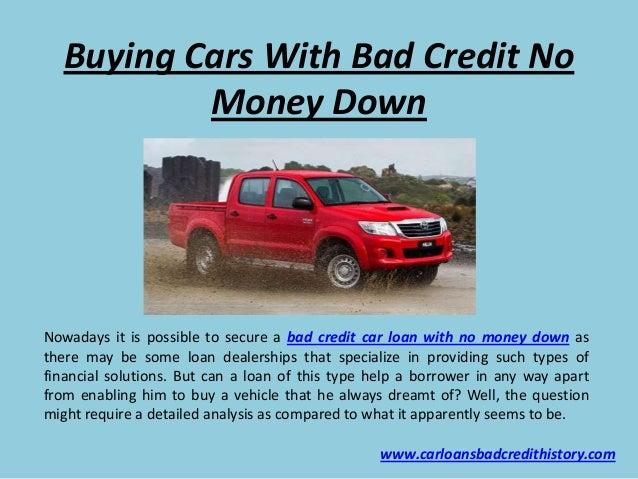 no money down no credit check cars