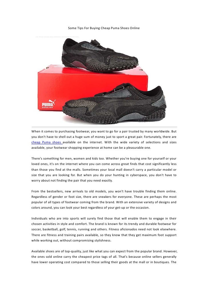Buying cheap puma shoes online