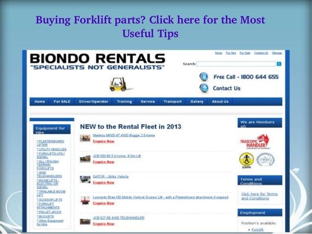BuyingForkliftparts?ClickherefortheMost UsefulTips