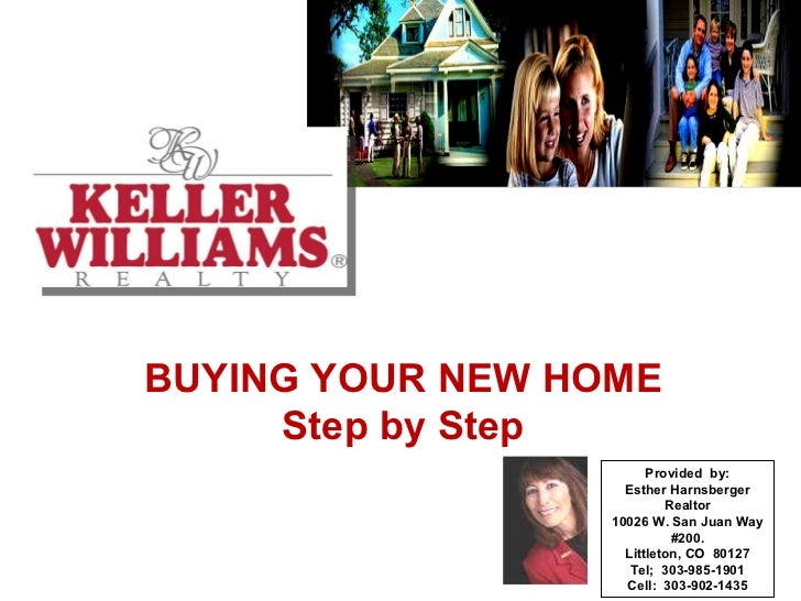 BUYING YOUR NEW HOME Step by Step Provided  by: Esther Harnsberger Realtor 10026 W. San Juan Way #200. Littleton, CO  8012...