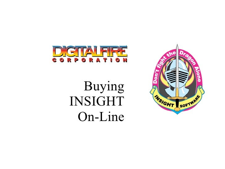 Buying INSIGHT On-Line