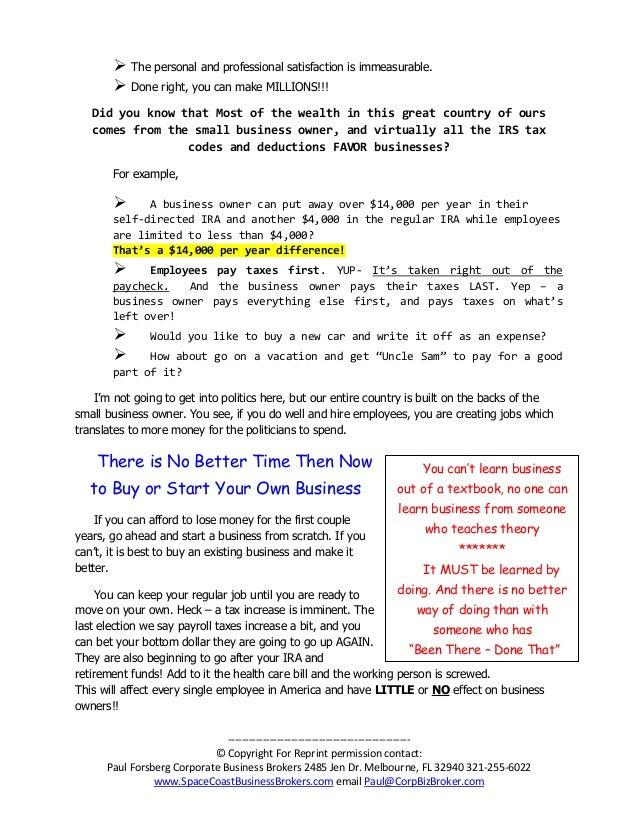 spacecoastbusinessbrokerscom email paulcorpbizbrokercom 4