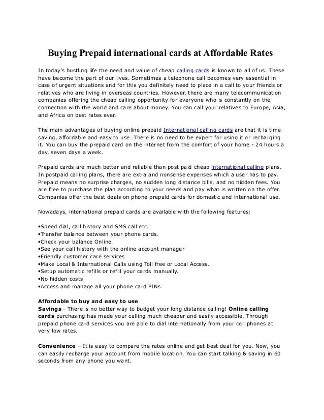 buying prepaid international cards at affordable rates in todays hustling life the need and value of - Prepaid International Calling Cards