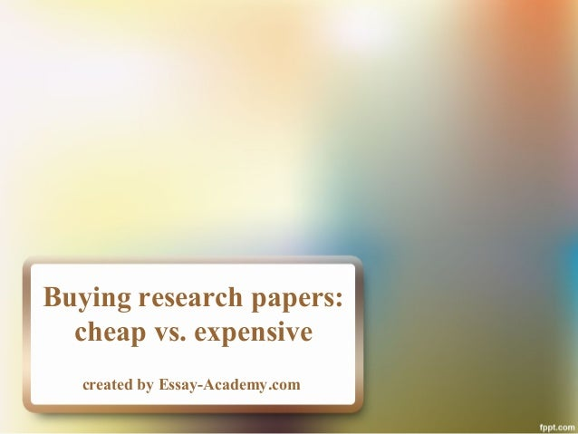 When You Decide to Buy Research Papers……