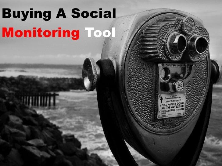 Buying A SocialMonitoring Tool