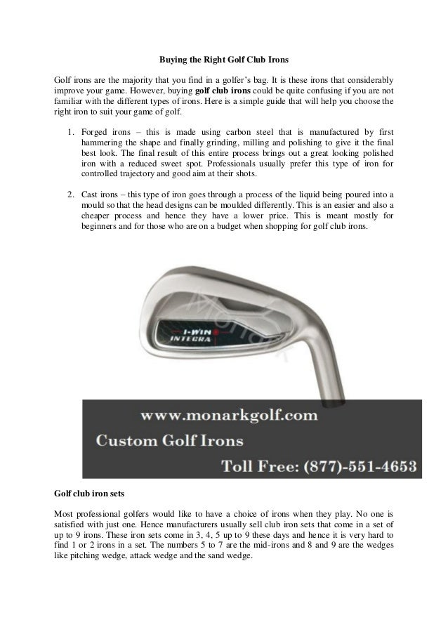 22f5a0ffca60 Buying the Right Golf Club Irons Golf irons are the majority that you find  in a ...