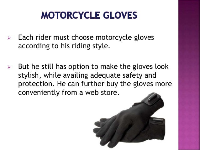 Buying the right motorcycle gloves online Slide 3