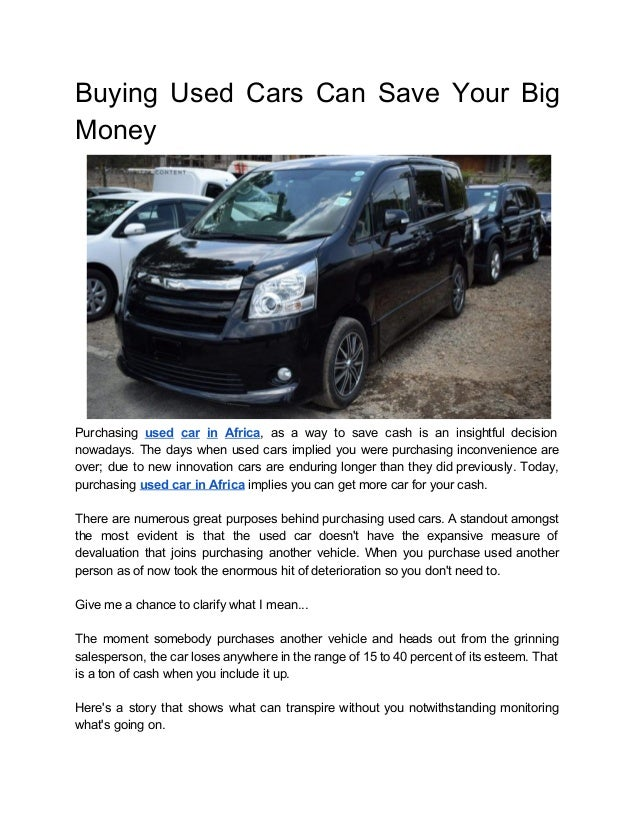 Buying used cars can save your big money