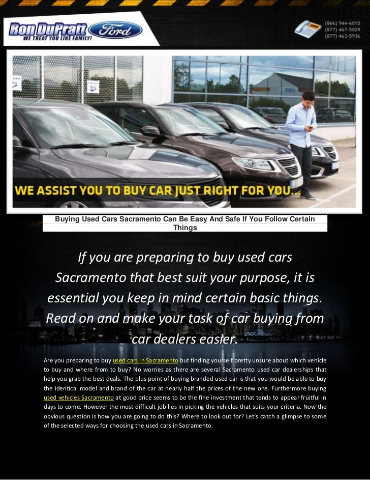 Buying Used Cars Sacramento Can Be Easy And Safe If You Follow Certai…