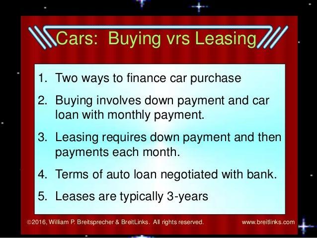 loan versus lease