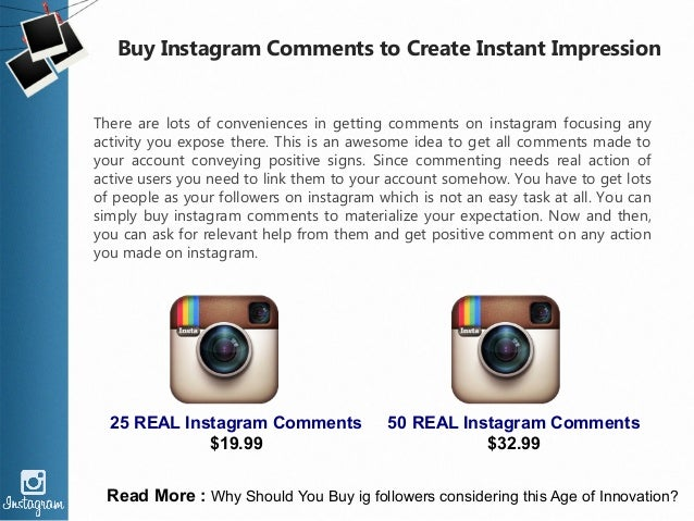 Buy Instagram Comments to Create Instant Impression